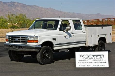 car owners manuals for sale 2002 ford f350 transmission control sell used 1996 ford f350 diesel manual 4x4 crew cab xlt utility bed 4wd 5 speed 7 3l psd in