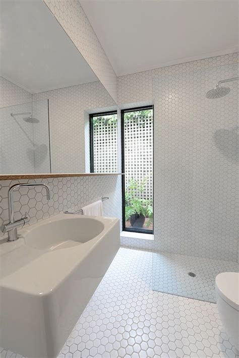 white hexagon tile bathroom 32 white hexagon bathroom tile ideas and pictures