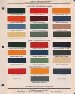 Chevrolet Dealer Code List Paint Chips 1947 Chev Truck Fleet Commerical