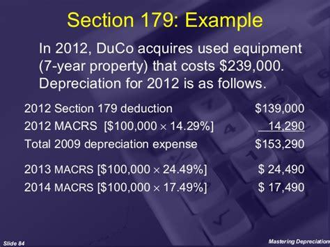 section 179 deduction 2013 mastering depreciation