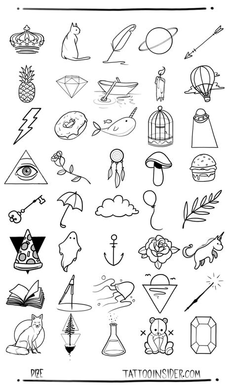 small tattoo patterns 80 free small designs insider