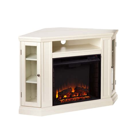 electric fireplace ivory 48 quot claremont convertible media electric fireplace ivory