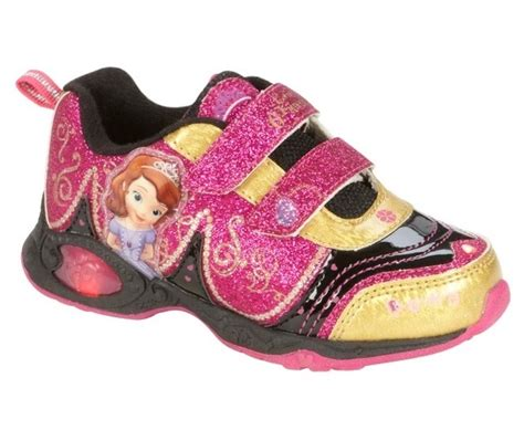 Sofia Shoes Fuchia Kulit sofia the light up shoes new sz us 11 sneakers glittery pink gold disney shoes