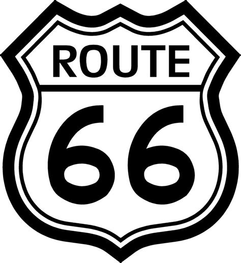 Route 66 L by Prosticker 810 One 5 Quot Route 66 Decal Sticker White Black