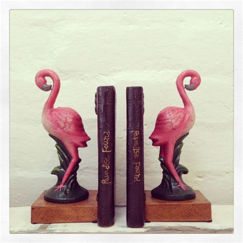 pink flamingo home decor pink flamingo bookends contemporary accessories and