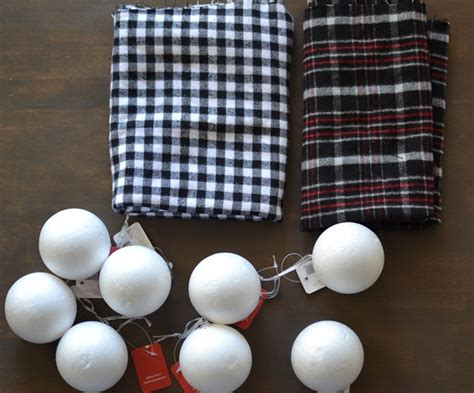 what size ornament is needed to make a handprint snowman ornament diy plaid flannel ornaments