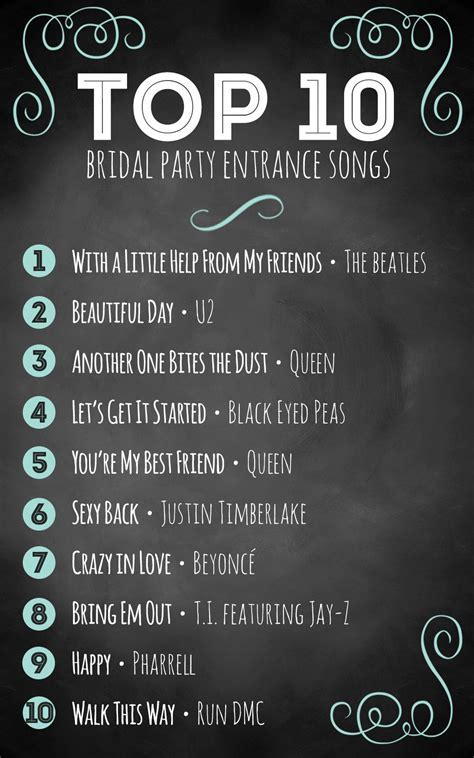 Top 10 bridal party entrance songs   Wedding advice