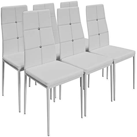 6 Black Dining Chairs 6 Dining Chairs Dining Room Chair Seating Furniture Seats Diner Black Or White Ebay