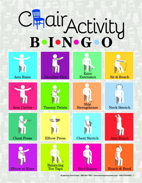 printable health board games chair activity bingo school specialty canada
