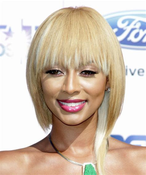 light silky keri hilson straight blonde medium length remy human keri hilson medium straight casual bob hairstyle light