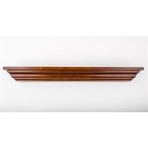 Home Depot Decorative Trim 60 In L X 5 In D Floating Mahogany Crown Molding Decorative Ledge Shelf 455 17 The Home Depot