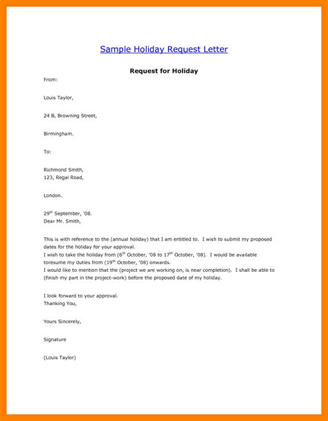 College Vacation Letter 12 How To Write Annual Vacation Leave Letter Riobrazil