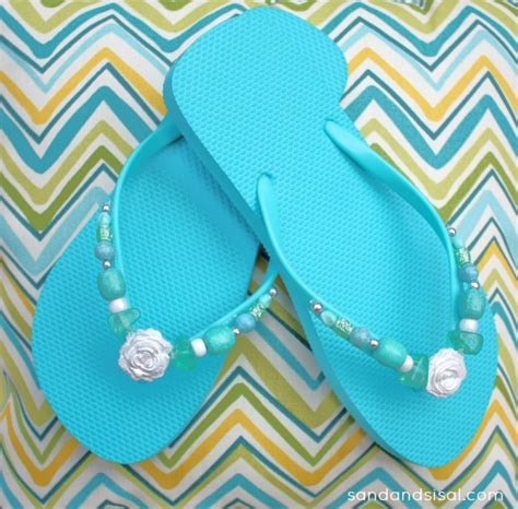 Flip Flop Decorating Ideas by Ways To Decorate Flip Flops Sand And Sisal