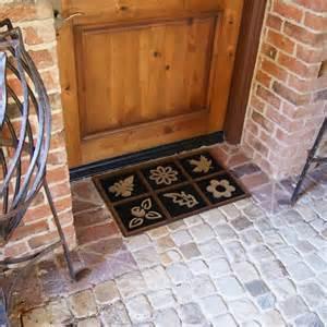 Large Rubber Front Door Mats Quot Garden Delight Quot Rubber Door Mat