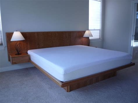 custom platform bed handmade cherry platform bed by natural choice furniture