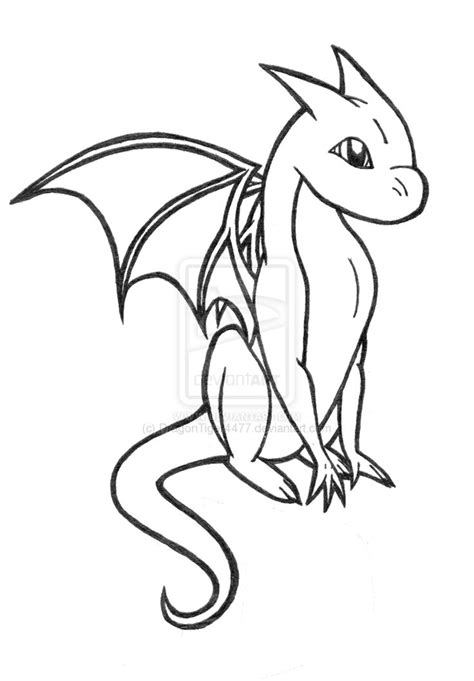 simple dragon coloring page baby dragon coloring pages to download and print for free