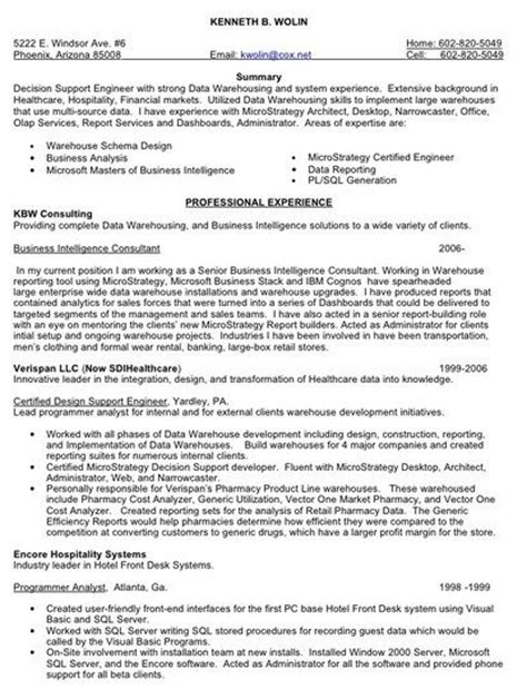 Sle Resume For Data Warehouse Analyst Data Warehouse Testing Resume 28 Images Edw Testing Resume Data Warehouse Analyst Salary
