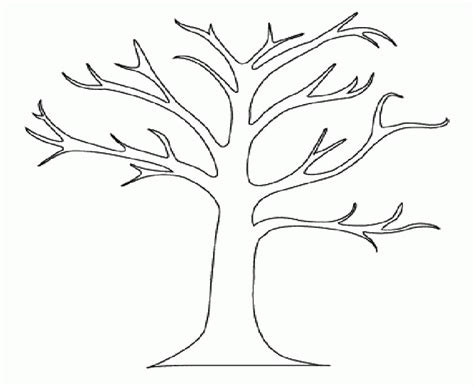 winter tree coloring page coloring home