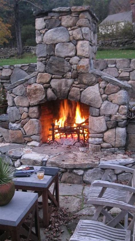 Outdoor Fieldstone Fireplace by Fieldstone Fireplace Fireplace And Mantel
