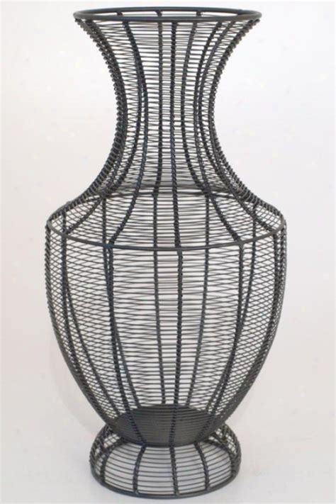 Wire Vase by Intuition I Canvas Wall I Beige Home Decor