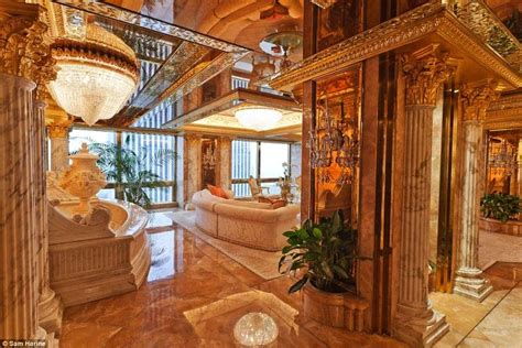 donald trump pent house donald trump s 100m penthouse decked out with gold