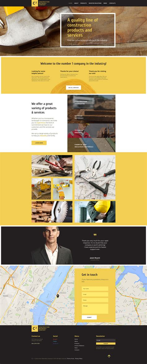 construction site templates construction web template