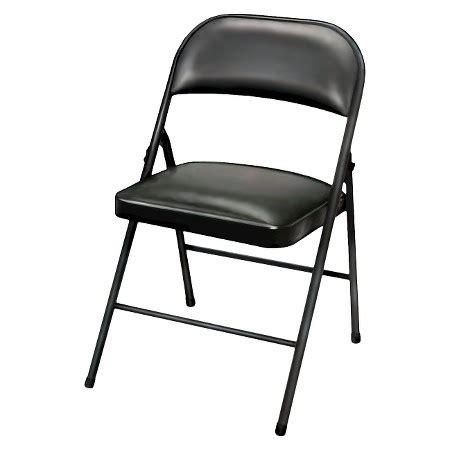 Black Plastic Folding Chairs by Folding Chair Vinyl Padded Black Plastic Dev 174 Target