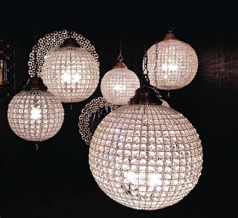 Chandelier Interesting Crystal Sphere Chandelier Modern Sphere Chandelier With Crystals