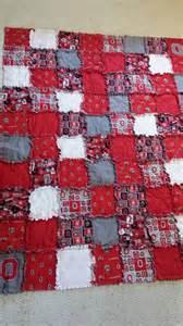 ohio state buckeyes football rag quilt by careyscraftycreation