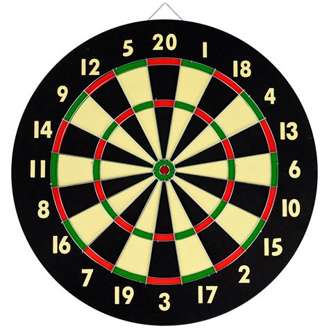 Yugster   Dart Game Set With 6 Darts and Board Dart Board