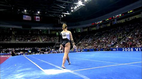 shawn johnson floor exercise 2008 visa chionships