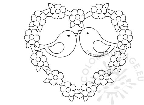 coloring pictures of lovebirds lovebirds coloring page fun stuff pinterest