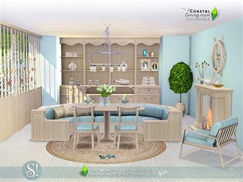 coastal dining room sets simcredible s coastal dining room