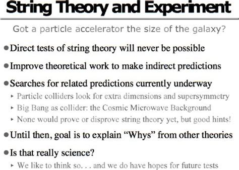 What Is String - an introduction to string theory string theory and experiment