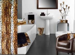 leopard bathroom decor animal print bathroom decorating ideas