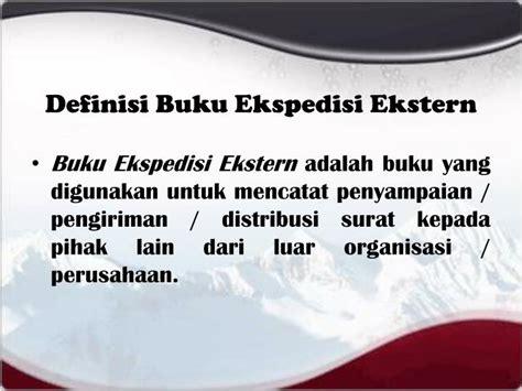 format buku ekspedisi intern ppt menangani surat masuk surat keluar mail handling