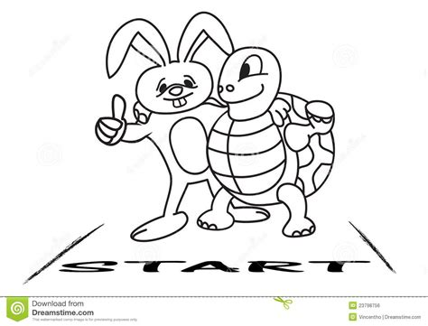 Free Race Rabbit Turtle Coloring Pages Tortoise And The Hare Coloring Page