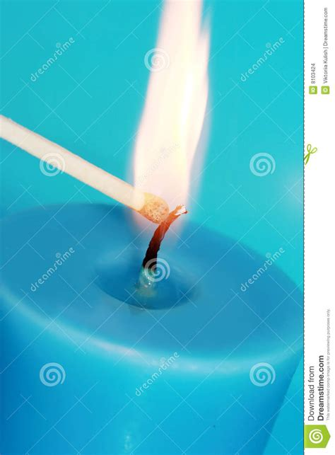 blue candle lighting lighting of blue candle stock images image 8103424