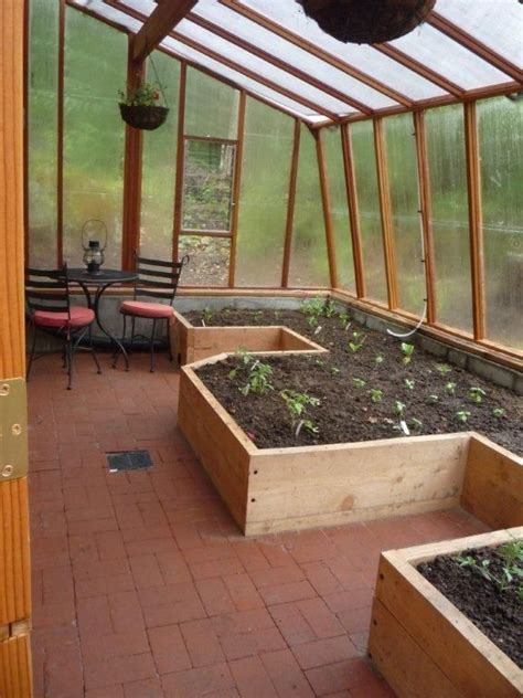 inside greenhouse ideas interior of solite lean to greenhouse with built in raised