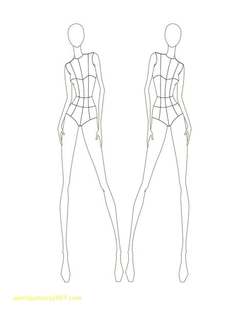 top result fashion illustration templates front and back