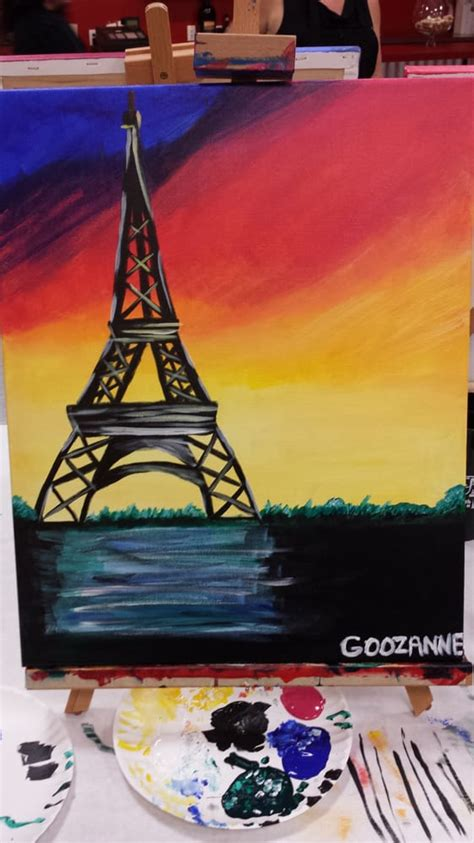 paint with a twist eiffel tower sunset eiffel tower yelp