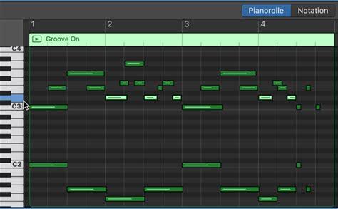 Piano Garage Band by Garageband F 252 R Mac Bearbeiten Noten Im Pianorolleneditor