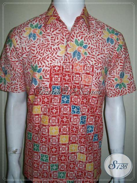 Kemeja Batik Blok Warna Biru Muda kemeja batik elegan warna pastel untuk laki laki muda berprestasi ld1180c m toko batik