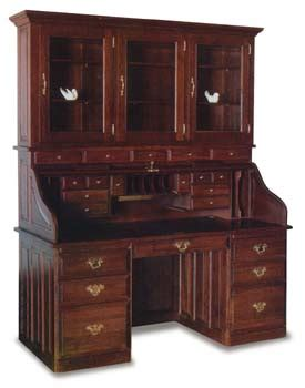 roll top desk with hutch 68 quot amish roll top office desk with hutch amish office