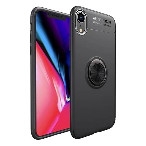 c ku protective for iphone xr 360 rotating ring grip kicktand back cover alexnld