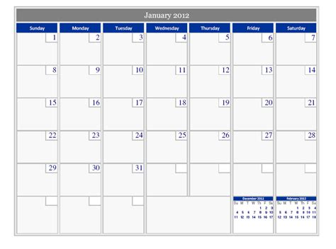 Calendar 2012 Printable Printable Calendar 2012 171 Home Weekly