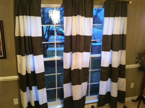 tan and white horizontal striped curtains horizontal stripe window panel curtain drape