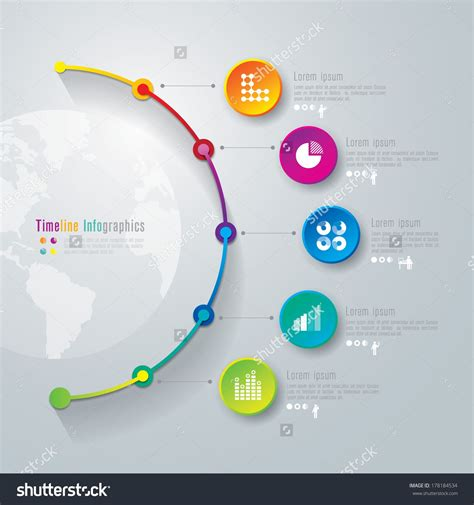 diagram infographic abstract 3d digital illustration infographic vector