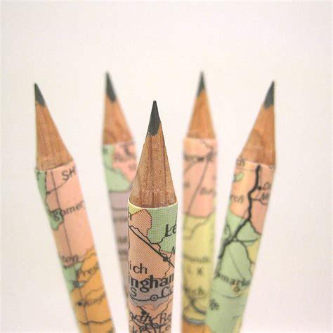 map pencils set of five map of the uk pencils by six0six design notonthehighstreet