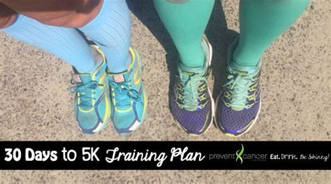 To 5k In 30 Days by September 30 Day Challenge 5k Plan Eat Drink Be